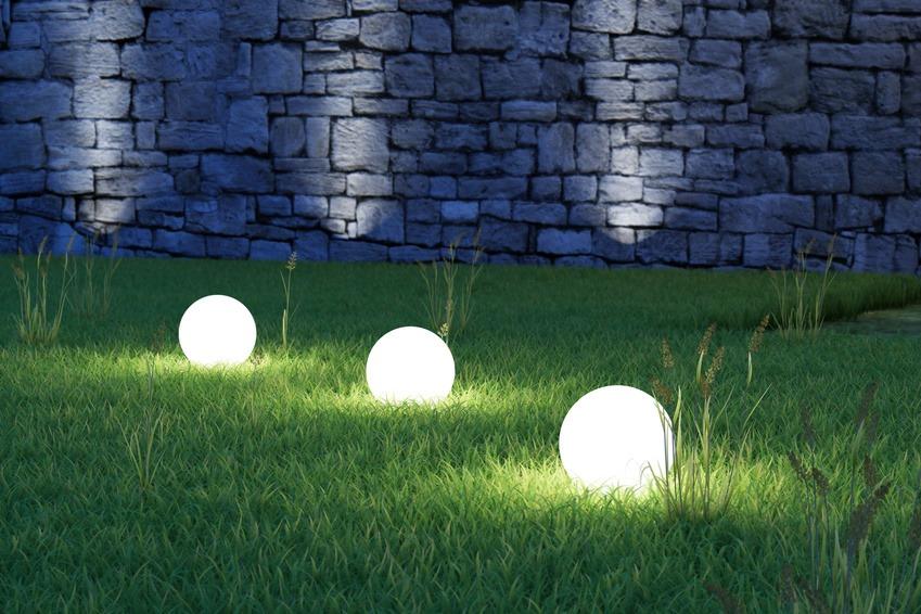 Boule éclairage jardin