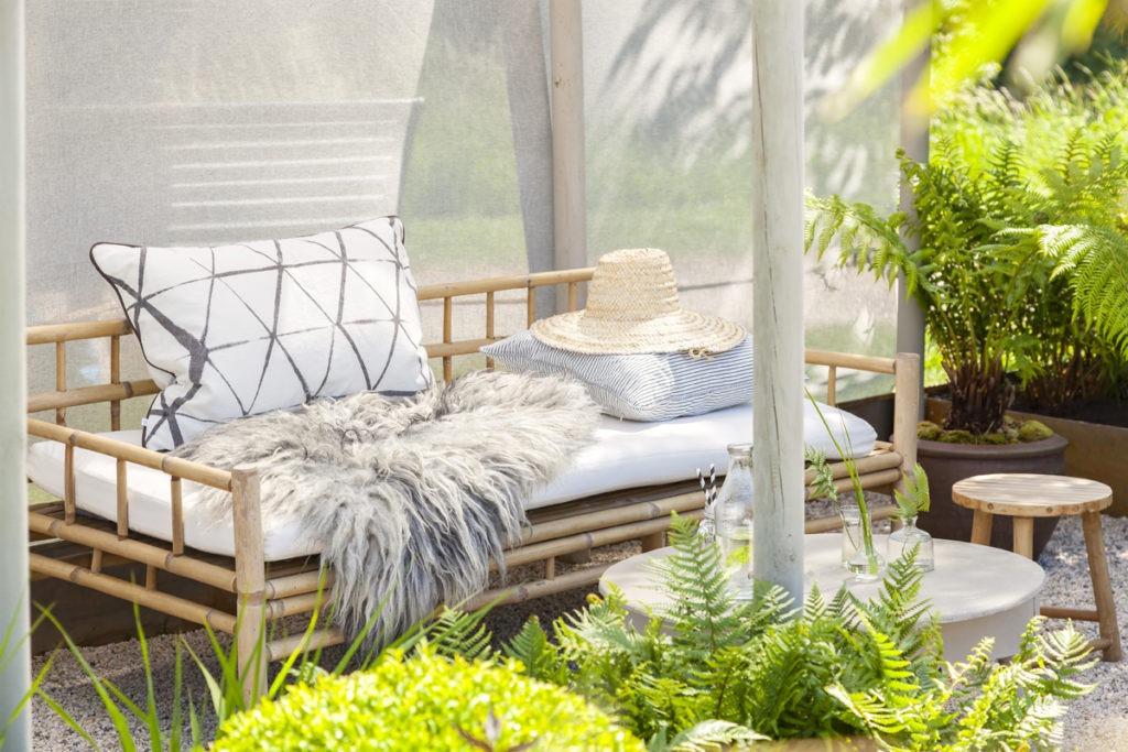 Canapé de jardin en bambou