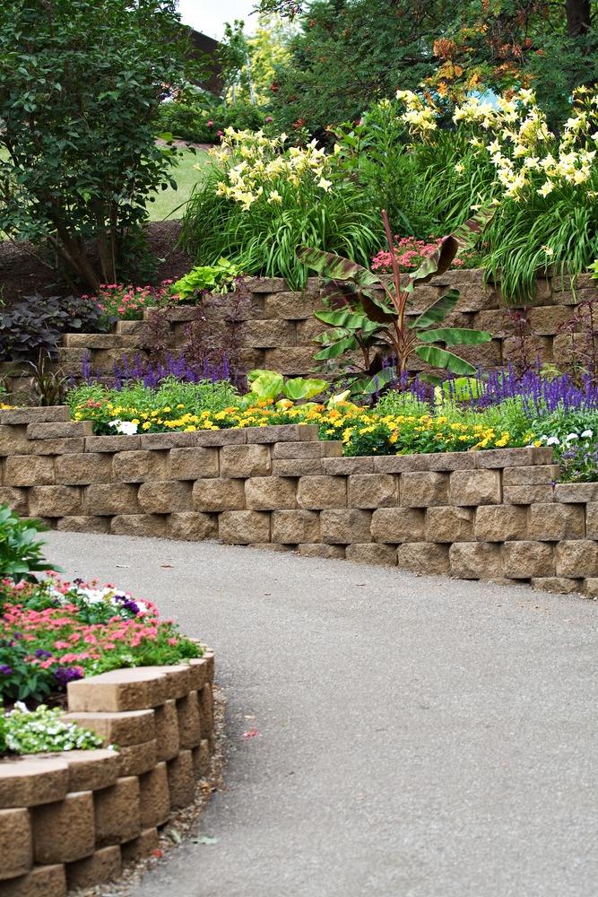Muret en pierre jardin