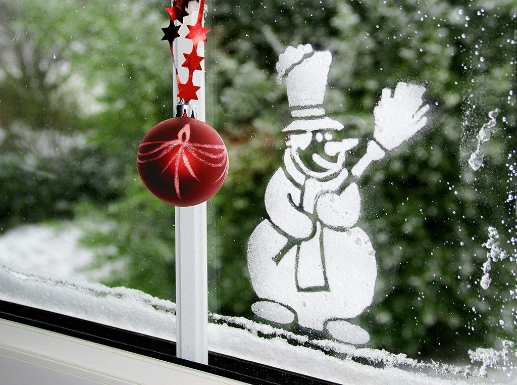 Spray neige fenêtre