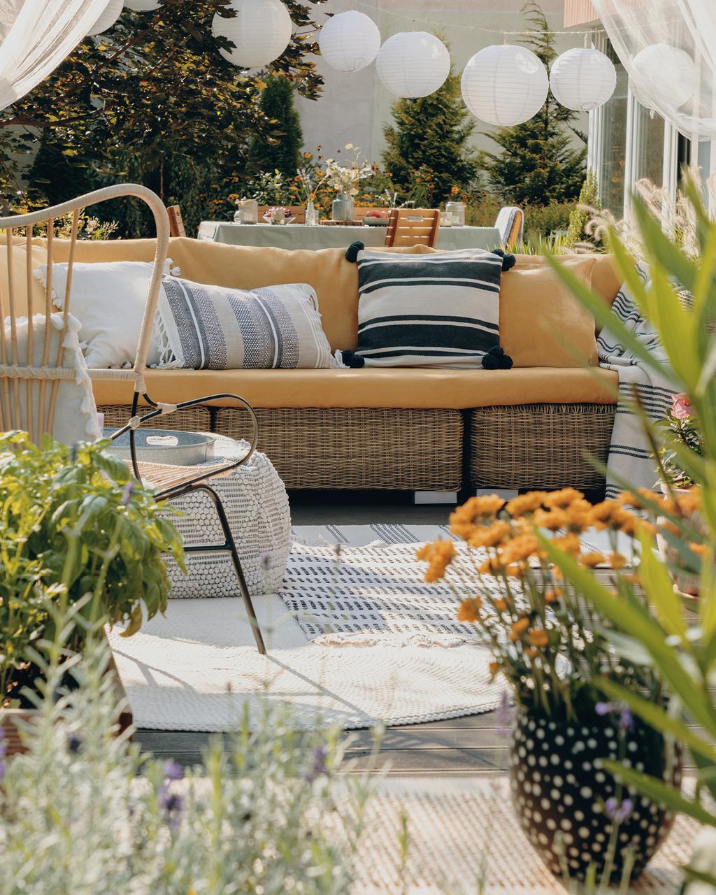 Déco jardin aménagé confortable