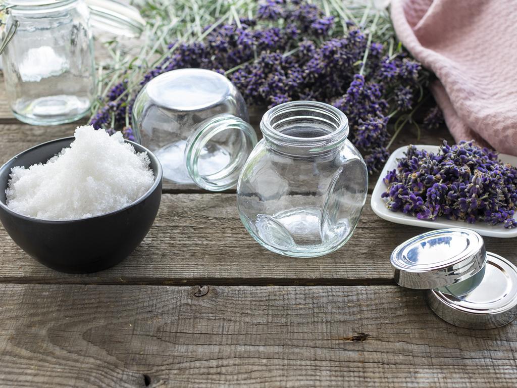 DIY ingredients sel de bain lavande