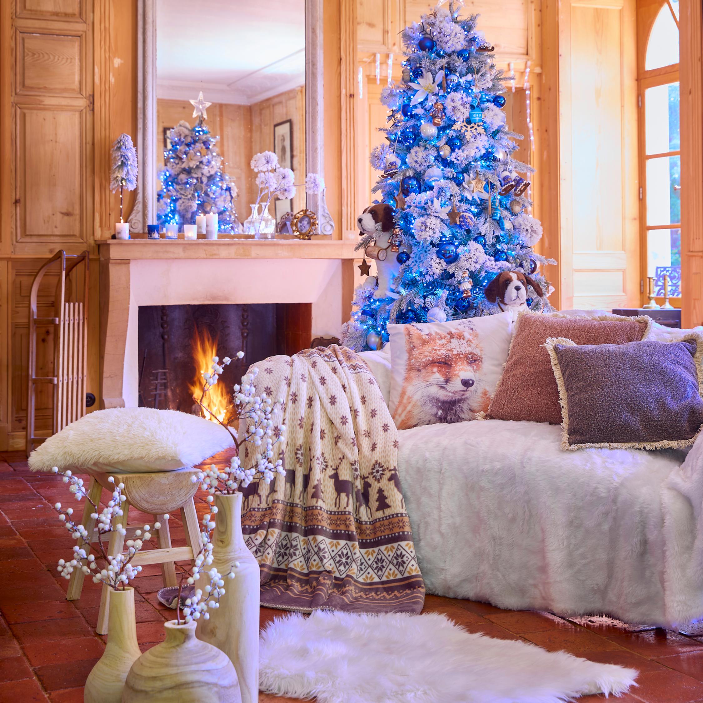 Deco Noel polaire blanc bleu