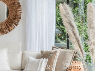 Deco herbe pampa miroir osier