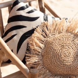 Deco nature ethnique-coussin zebre